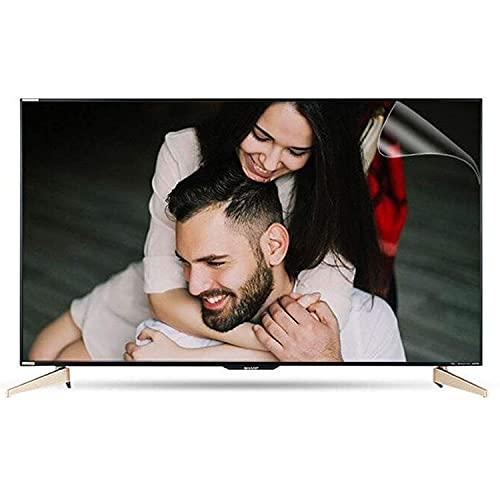 Protector de Pantalla de TV de luz Anti Azul, Anti-Myomopía Anti-deslumbramiento, Protector de Pantalla Aliviega y sueño Mejor para LCD, LED, OLED & QLED 4K HDTV,60' 1327 * 749mm