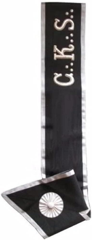 Masonic collar - AASR - 30th degree - C. K. S. - Left shoulder to right hip