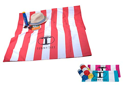 Funny Tree® Microvezel handdoek XXL 100x200 cm | XL 90x180 cm | Ultralicht, sneldrogend I Sporthanddoek reishanddoek | ideaal voor sauna yoga zwemmen wellness wandelen backpacking reizen strand