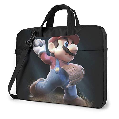Super Mario Laptop Bag 14 15 15.6 Inch Briefcase Shoulder Messenger Bag Water Repellent Laptop Bag Satchel Tablet Bussiness Carrying Handbag for Women and Men14 inch