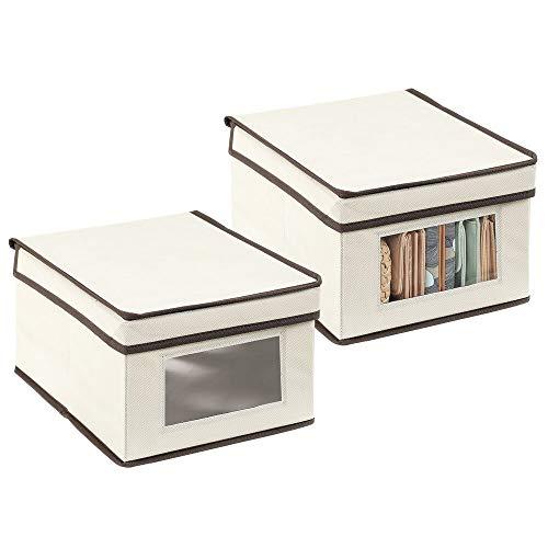 mDesign Juego de 2 cajas de almacenamiento – Organizador a