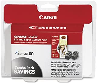Canon PG-40/CL-41 Cartridges and Glossy Photo Paper Combo Pack