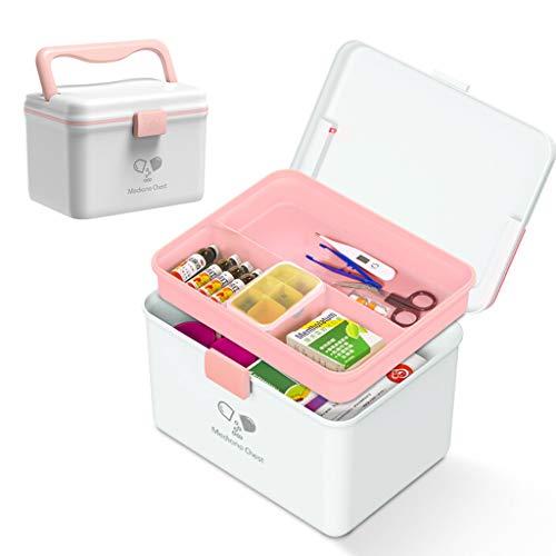 SHANG Eerste Hulp Doos, Plastic Grote Capaciteit Thuis Seal Medische Koffer voor Drug Opslag met compartiment en Draagbare Pill Box