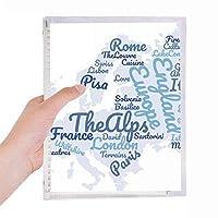 ランドマーク地理 硬質プラスチックルーズリーフノートノート