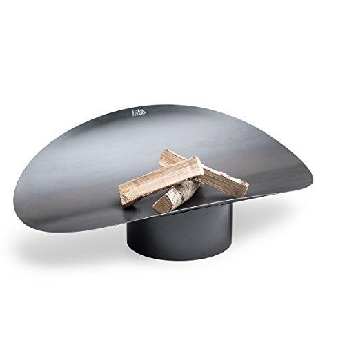 höfats - ELLIPSE Feuerschale - funktionale Feuerstelle und Grill - für Terrasse und Garten - Corten-Stahl mit Rost-Optik