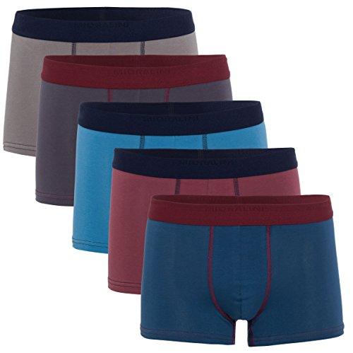 MioRalini 5 Herren Elastan -Baumwoll Boxershort, Modell: 5 Stück Set 15, Größe: M-5