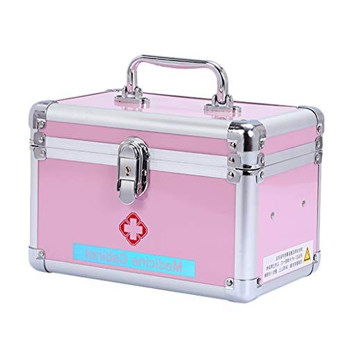 Medicijnbox SAP- aluminiumlegering L24,5 * W14 * H16 cm huishoudgeneeskunde doos geneeskunde ambulant eerste hulp medische doos opbergdoos veiligheid
