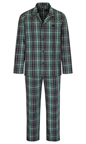 BOSS Herren Urban Pyjama Zweiteiliger Schlafanzug, Grau (Dark Grey 22), Medium (Herstellergröße: M) (2er Pack)