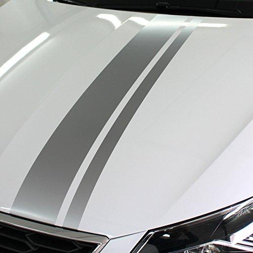 Finest Folia Auto Rallystreifen 4,5 Meter x 19 cm Ralleystreifen Aufkleber Viperstreifen Seitenstreifen Rennstreifen Wohnmobil (CDX131 4,5Meter x 19cm)