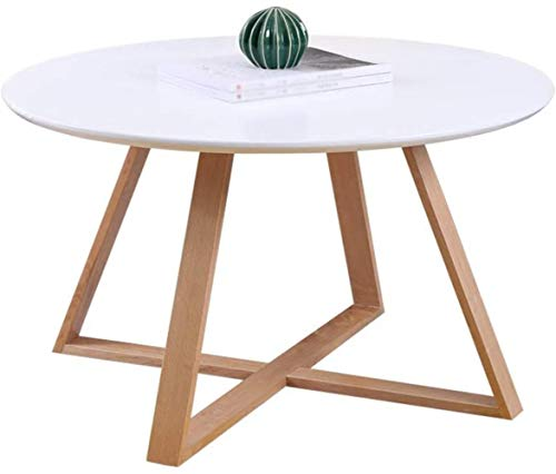 TXC- tafel, salontafel, bijzettafel, kleine ronde tafel, sofa bijzettafel nachtkastje make-uptafel eettafel massief hout bijzettafel 80 * 80 * 40 cm klein