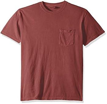 Comfort Colors Men s Adult Short Sleeve Pocket Tee Style 6030 Crimson Large