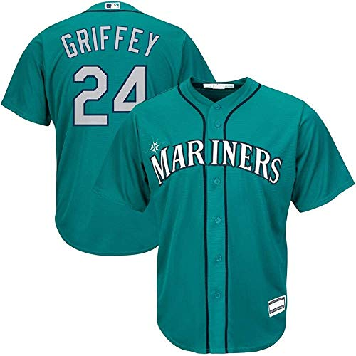 #24 Ken Griffey Jr. Seattle Mariners Cool Base Player Jersey - Northwest Green L