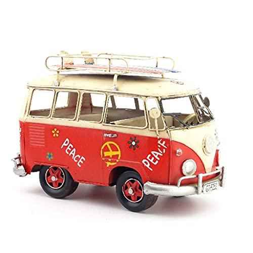 XHAEJ Auto Model Retro schmiedeeisen Bus Ornament kreative Dekoration Ornamente Handwerk Simulation Dekoration Geburtstagsgeschenk für Junge Kind