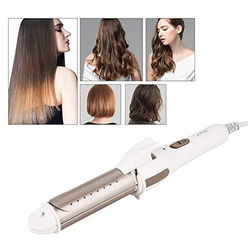 2 En 1 Cheveux Culer Lisseur Température Constante Électrique Flat Iron Bigoudi Outil Styling Fer À Lisser Salon Styler,D'or