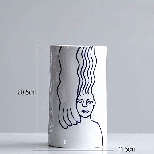 Vaas decoratie Nordic creatieve stijl Ceramic Vase Decoration Living Room De Regeling Ornament, kleine vaas, kleine vaas (Color : Small Vase)