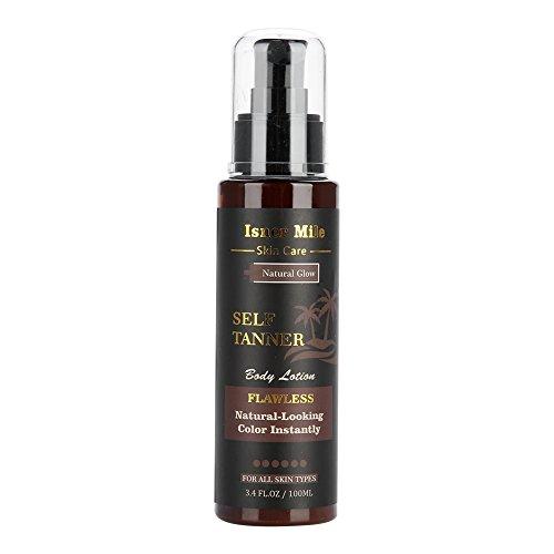 Crema para el cuerpo Loción bronceadora sin sol Hidratante Ingredientes naturales orgánicos Mejor bronceador Bronce ligero, mediano u oscuro gradual para el cuerpo y la cara