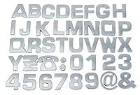 (ラボーグ) La Vogue メッキ シルバー カー ステッカー シール 3D立体 アルファベット A-Z組合自由 バイク DIY 装飾用 飾り L銀色英字 10枚セット