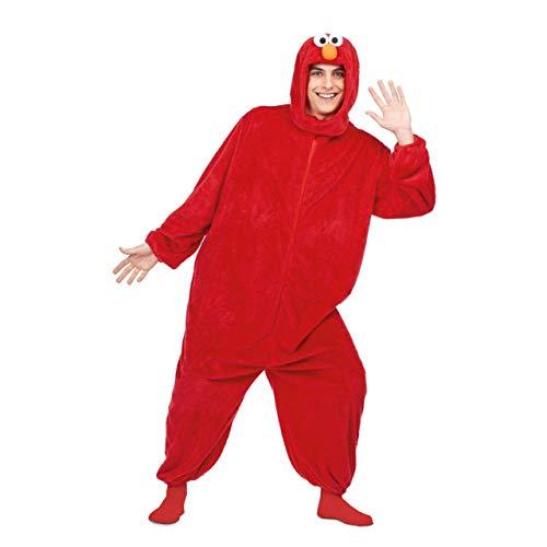 Barrio Sésamo Disfraz de Elmo Rojo para Adultos