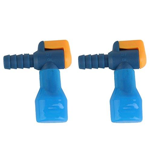 2 x Trinkbeutel Trinkblase Mundstück Beißventil, Blau