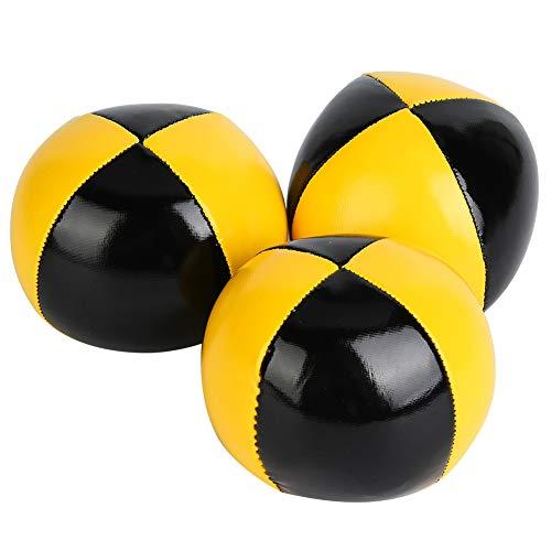 Pak met 3 Thud Jongleerballen, Geelzwarte Clown Speeljongleer Set Speelgoed Geschikt voor beginners met netzak