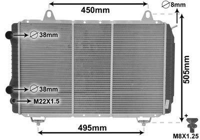 Kühler, Motorkühlung *** IR PLUS *** mit Zubehör (1710-2309) Wärmetauscher Kühlung Motorkühler