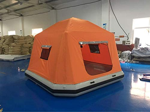 Inflatable Floating PVC Shoal Family Camping Water Raft Tent AS SEEN Online ()