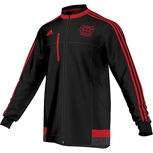 adidas Bayer, Giacca Uomo Leverkusen Anthem, Nero (Black/Scarlet), S