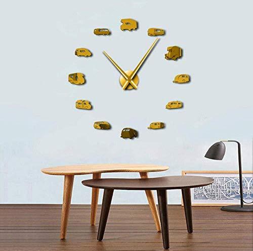 DIY Wandklok Nieuwe Gouden Mode 3D 90x90cm Grootte Spiegel Sticker DIY Wandklok Home Decoratie Wandklok Vergaderzaal 27inch