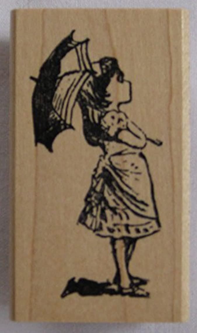 Nature's Blessings Fine Art Stamps, Girl with Umbrella