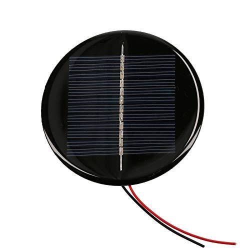 Festnight Mini Solar Cell, Polycrystalline Silicon Solar Panel DIY Waterproof Camping Portable Power Solar Panel Compatible for Toys Light Lamp Fan Garden Pump