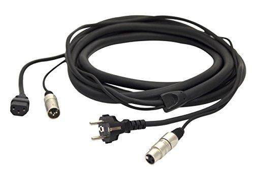 Proel PH080LU10 - Cavo professionale combinato per segnale audio e alimentazione di rete, Nero (PH080LU10-10mt.)