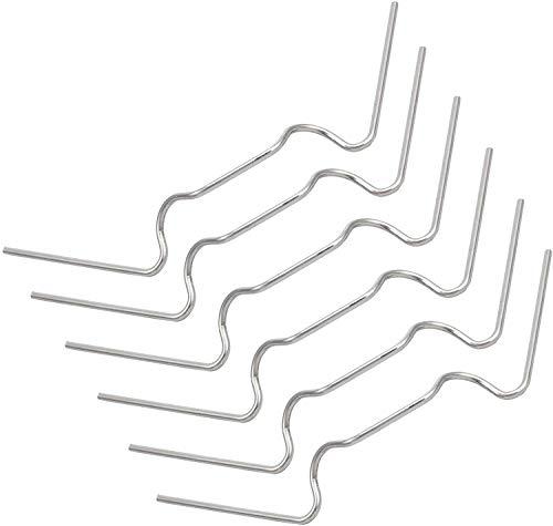 witgift 100 Stück Gewächshausklammern Gewächshaus Klammern Gewächshaus Clips Edelstahl Glasklammern für Gewächshaus Zubehör