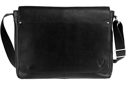 Scully Hidesign Corporate Series Laptop Messenger Brief Bag Black