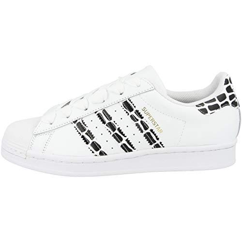 adidas Low Superstar - Zapatillas deportivas para mujer, color Blanco, talla 43 1/3 EU
