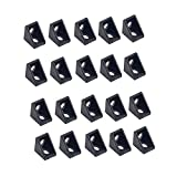 20 piezas de aluminio negro 2 agujeros 2020...