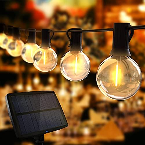 Guirnaldas Luces Exterior Solar, TOGAVE Cadena Luces con 10+1 G40 LED Bombillas IP44 Impermeable, 4...