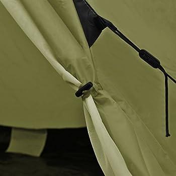 vidaXL Tente pour 4 Personnes Vert Tente de Camping Couche Imperméable Portable