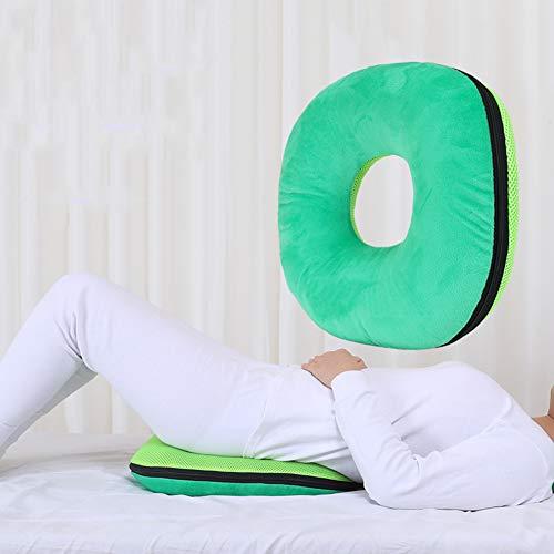 PINGJIA Cuscino Rotondo antidecubito Cuscino Imbottito Traspirante Comfort Sedile per prevenire Il decubito per emorroidi, Gravidanza, piaghe da decubito, Sedia a rotelle, Seduta prolungata