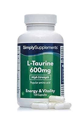 L-Taurine 600mg | 120 Capsules | Manufactured in The UK