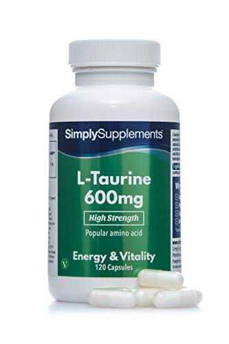 L-Taurina 600mg - ¡Bote para 2 meses! - Apto para Veganos - 120 Cápsulas -...