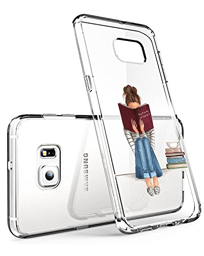 Custodia Samsung Galaxy S7 Trasparente Galaxy S7 Cover Case Silicone Simpatico Panda Disegno Animale Ultra Slim Custodia Antiurto No-Slip Anti-Graffio Morbido per Samsung Galaxy S7 (Ragazza)