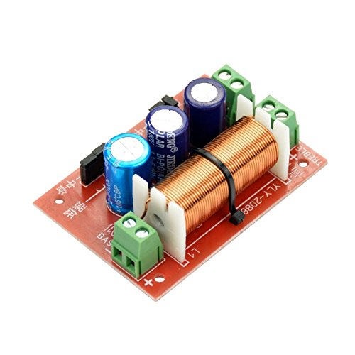 DollaTek 400W Altavoz Ajustable Agudos/Graves 2 Unidades Divisor de frecuencia de Audio Divisor de 2 vías Filtros versión actualizada