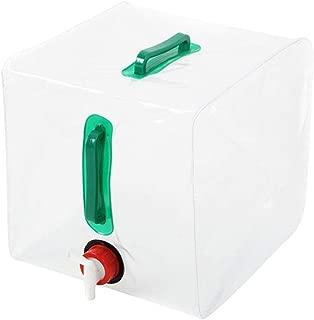 Jadeyuan Deportes Vejiga Agua Botella de contenedor de Agua Potable de PVC Grande Plegable de 20L Botella de contenedor de Agua for Picnic al Aire Libre Senderismo Aire Libre
