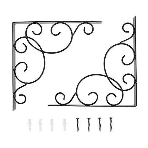 2 stuks antieke stijl roestvrij ijzer wandmontage plank L-vormige beugel steunbeugel