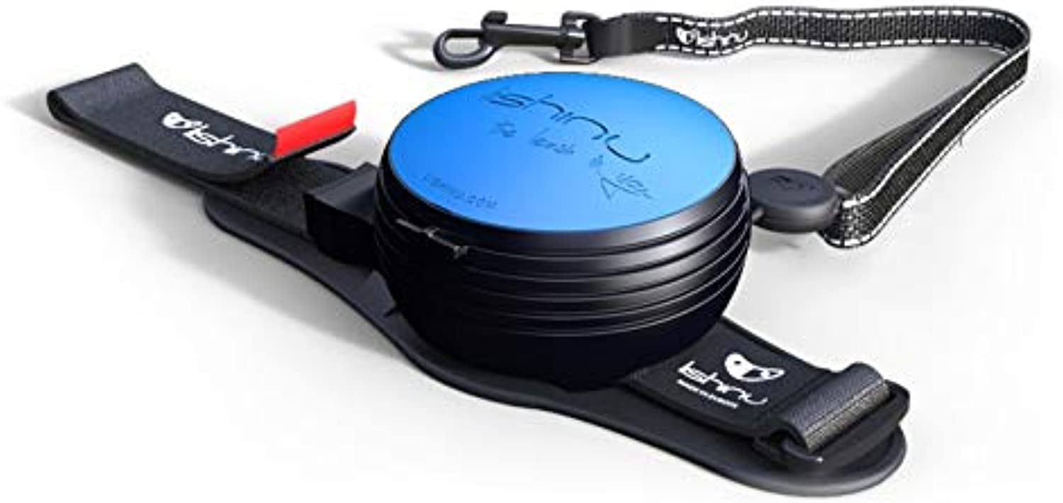 Lishinu New 2 Original   Rope String with Stop Button Leash Designed in  and Made in EU (S 1326 lb   612 kg, bluee)