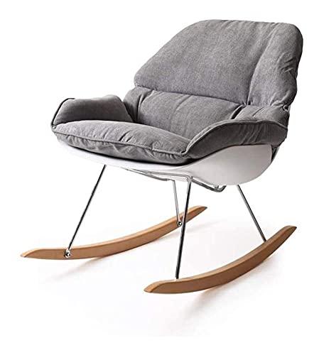 Silla mecedora para muebles de jardín, sillas de porche, mecedora con apoyabrazos y respaldo, cojín separado, diseño suspendido, sillón reclinable relajante para sala de estar, patio y terraza ZH