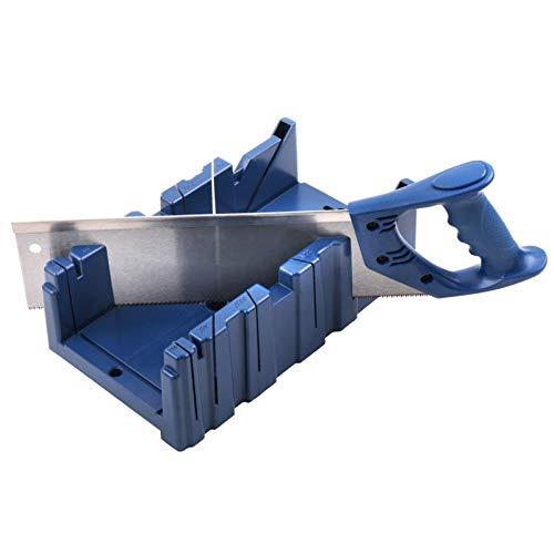 Yiyer Caja de Ingletes con Sierra de 14 Pulgadas Ángulos de Ranura 45/90 Grados para Ventanales Corte en Ángulo (M: 31X12. 5X7cm / 12. 2X4. 9X2. 8Inches)