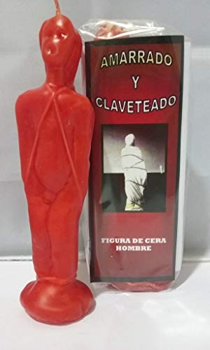 velas Ritual AMARRADO Y CLAVETEADO - Color Rojo