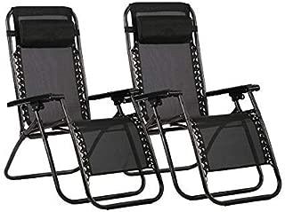 Havnyt - Juego de 2 sillas reclinables de jardín para
