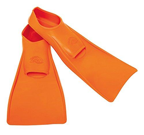 Flipper SwimSafe 1120 - Schwimmflossen für Kinder und Kleinkinder, in der Farbe orange, Größe 26 – 28, aus Naturkautschuk, als Schwimmhilfe für unbeschwerten Schwimm- und Badespaß